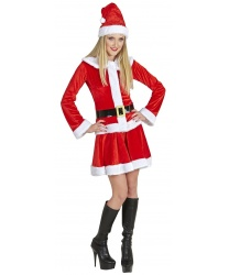 Новогодний костюм  Мисс Санта  - Все женские костюмы, арт: 9214