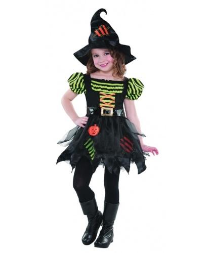 Костюм ведьмочки-тыковки: платье, колпак (Германия)
