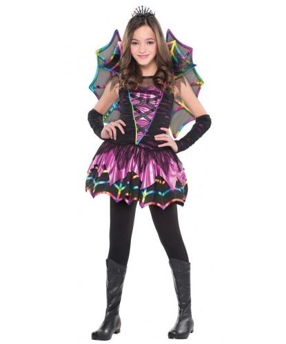 Костюм феи радужных пауков: платье, крылья, диадема, перчатки (Германия)