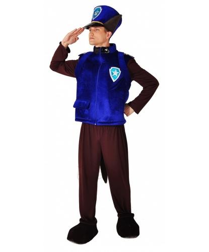 Костюм гонщика Чейза из щенячего патруля:  брюки, жилет, рюкзак. головной убор, имитация обуви (Украина)