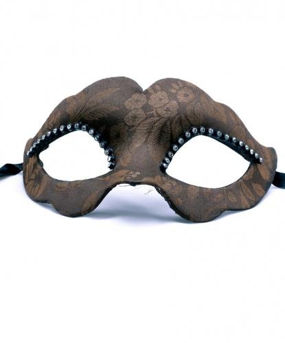 Венецианская маска Ricoperta, стразы, ткань, папье-маше (Италия)