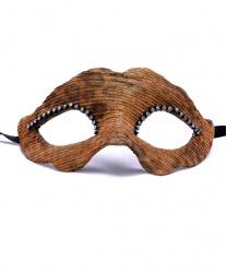 Венецианская маска Ricoperta с анималистичным принтом, папье-маше, ткань, стразы (Италия)