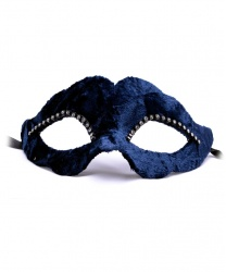 Темно-синяя бархатная маска