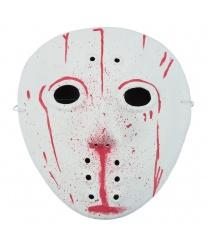 Хоккейная маска в крови