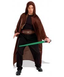 Костюм Джедая из Звездных войн: плащ с капюшоном, пояс, меч, косичка (Германия)
