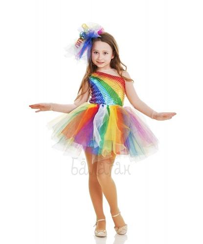 Костюм радуги: платье, юбка, головной убор (Украина)