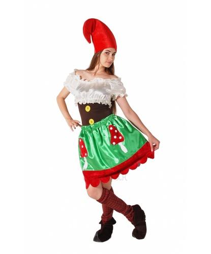 Костюм Гномессы : юбка, блуза, колпак, гетры, имитация обуви (Украина)