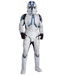 Костюм солдата-клона 501 из Звездных войн: комбинезон, маска (Германия)