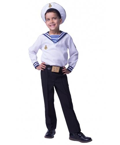 Детский костюм моряка: рубашка, брюки, ремень, фуражка (Россия)
