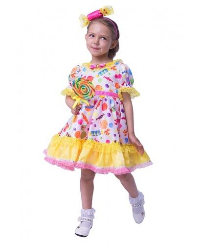 Костюм Конфетки: платье, ободок, муляж конфеты  (Россия)
