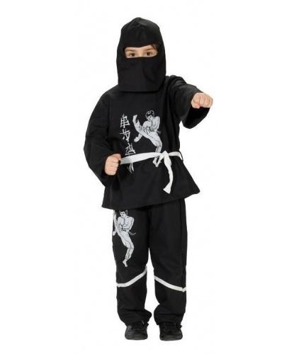 Детский костюм Черный ниндзя: кофта, брюки, балаклава, пояс ()