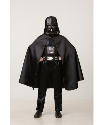 Детский костюм Дарта Вейдера: маска, кофта, брюки, пояс, накидка (Россия)