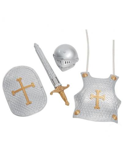 Набор рыцаря серый: доспехи, шлем, меч с ножнами,щит (Германия)