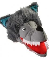 Набор волка (шапка, перчатки, хвост)
