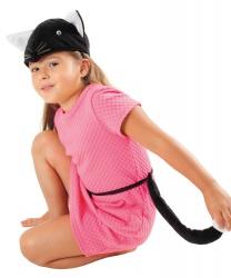 Набор черного кота (шапка и хвост)