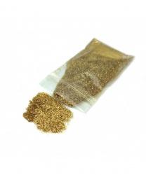 Блестки в пакетике золотые 50 гр