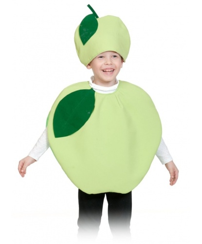 Костюм яблока: шапочка, накидка (Россия)