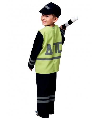 Костюм полицейского ДПС: куртка, брюки, кепка, мягкий жезл (Россия)