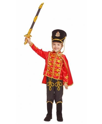 Детский костюм Гусар: мундир, брюки с накладками на обувь, кивер, плащ, сабля (Россия)