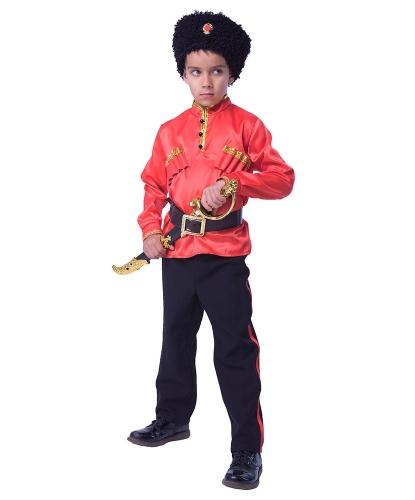 Детский костюм Казак: брюки, рубашка, головной убор, оружие (Россия)