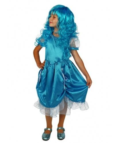 Голубое платье Мальвины: платье, повязка на голову (Россия)