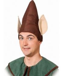Коричневый колпак эльфа с ушами