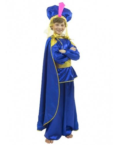 Костюм восточного принца: шаровары, рубашка, плащ, чалма, пояс (Россия)
