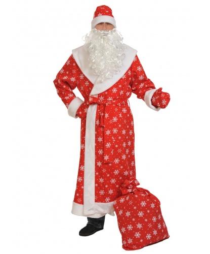 Костюм Деда Мороза: шуба, шапка, варежки, борода, пояс (Россия)