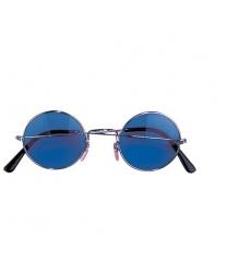 Круглые очки с синими стеклами