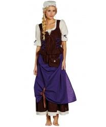 Костюм средневековой деревенской девушки