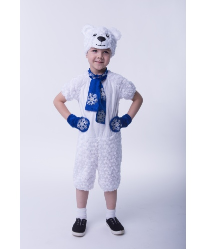 Детский костюм Медведь Полярный: комбинезон, шапка, варежки (Россия)