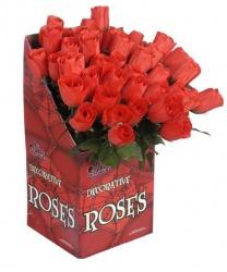 Искусственная красная роза