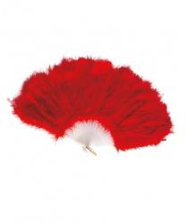 Веер красный из перьев