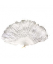 Веер белый из перьев