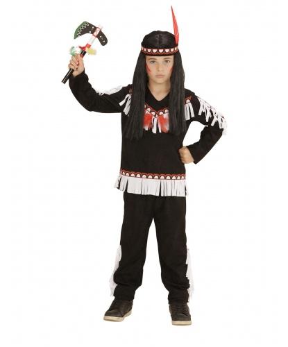 Костюм индейца на мальчика: штаны, кофта, головной убор (Италия)