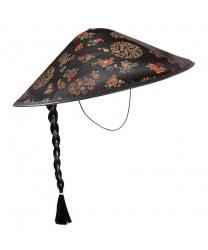 Китайская шляпа с косичкой