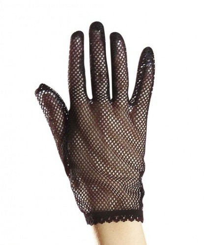 Черные сетчатые перчатки (Италия)
