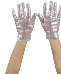 Перчатки блестящие