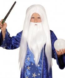 Парик и борода волшебника (детский)