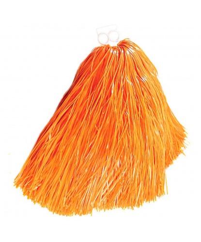 Помпон болельщицы оранжевый