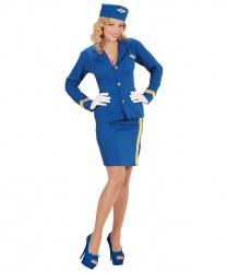 Синяя униформа стюардессы