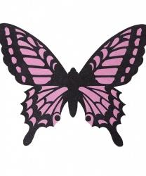 Черно-розовые крылья бабочки