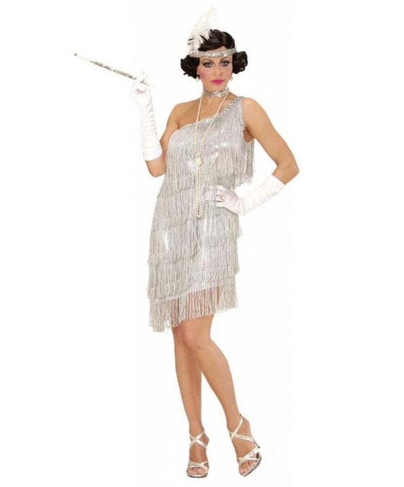 Костюм Флэппер: платье, чокер, головной убор (Италия) купить