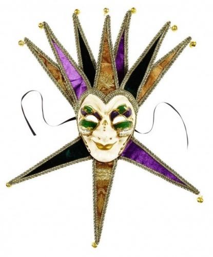 Венецианская маска Джокера, ткань, пластик (Италия)
