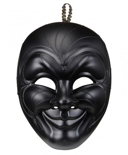 Черная мужская венецианская маска, пластик (Италия)