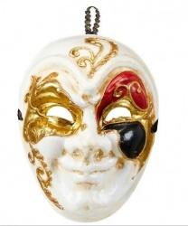 Бежевая мужская венецианская маска