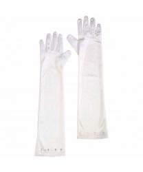 Белые перчатки со стразами (детские)
