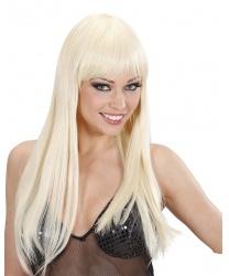 Парик блондинки с челкой