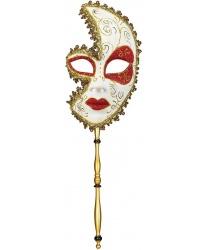 """Венецианская маска на палочке """"Барокко"""""""