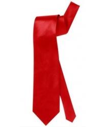 Красный сатиновый галстук
